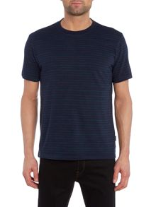 Paul Smith Jeans Regular fit space dye stripe crew neck t shirt