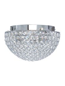 Linea Chantilly 25cm crystal flush light