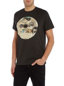 Paul Smith Jeans Regular fit badge print crew neck t shirt