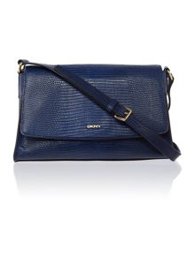 Sutton blue flap over cross body bag