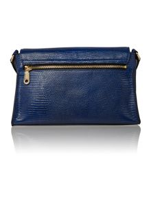DKNY Sutton blue flap over cross body bag