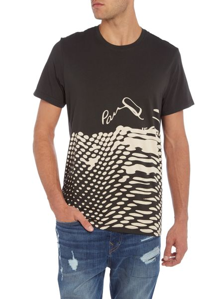 Paul Smith Jeans Regular fit melted logo printed t shirt