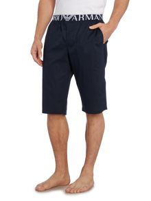 Plain woven sleep shorts