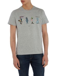 Paul Smith Jeans Regular fir cartoon printed t shirt