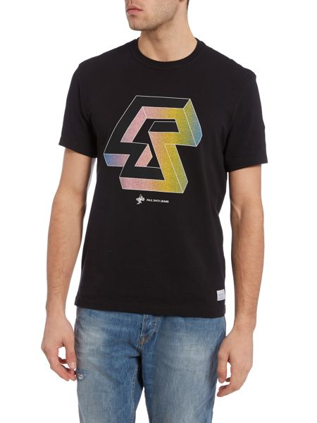 Paul Smith Jeans Slim fit geo shape printed t shirt