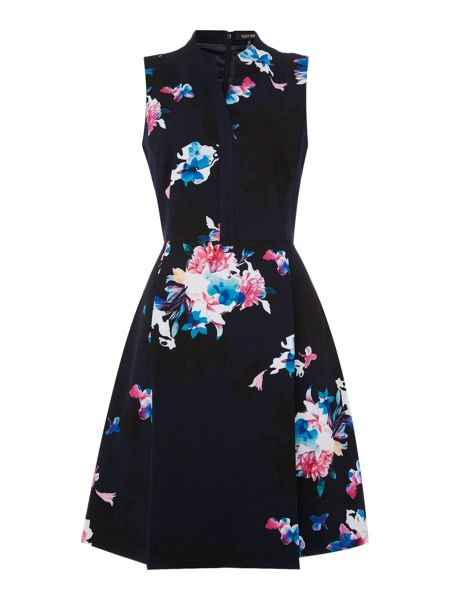 Ellen Tracy Fit and flare floral dress detail