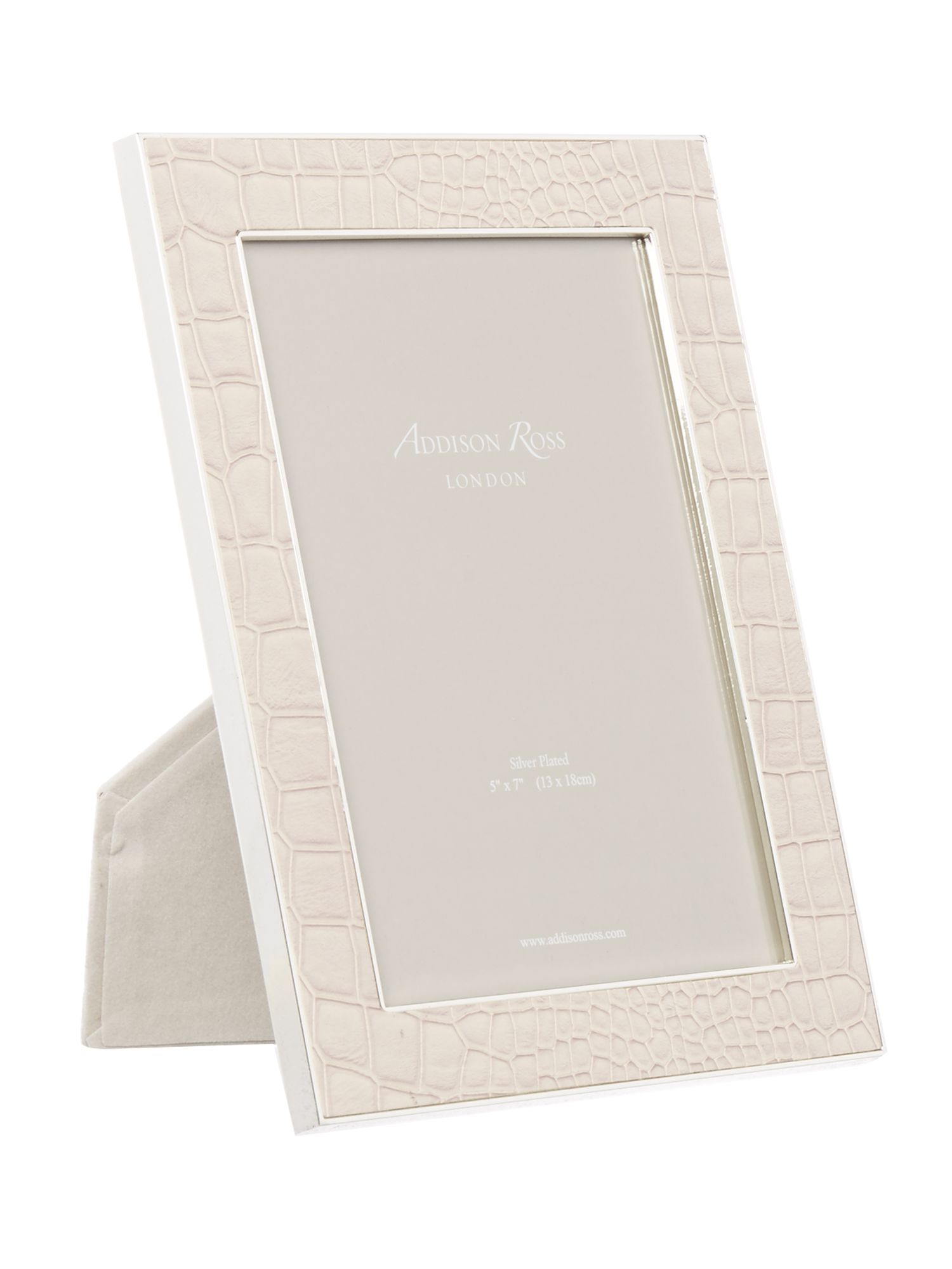 Image of Addison Ross 5x7 faux croc cream frame