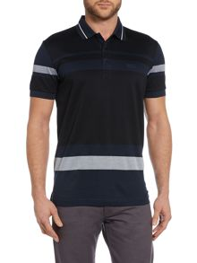 Hugo Boss Paddy 1 Regular Fit Striped Logo Polo
