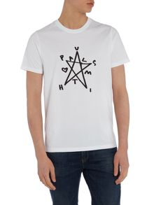 Regular fit star print t shirt