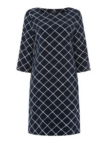 Ellen Tracy Boatneck shift dress