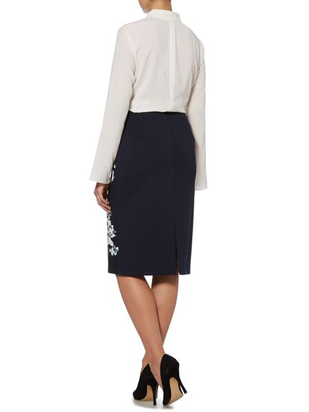 Ellen Tracy High waist floral pencil skirt