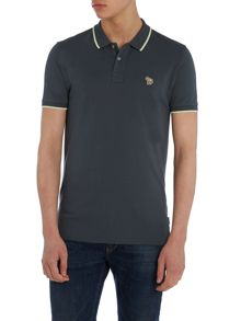 Paul Smith Jeans Slim fit tipped zebra logo polo shirt