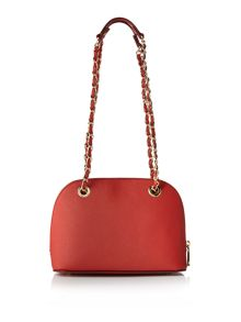 Saffiano red small rounded cross body bag