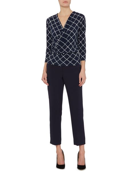Ellen Tracy Jersey wrap top