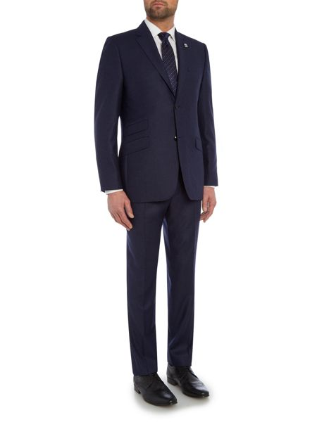 Ted Baker Single Breasted Buzard Flannel Suit