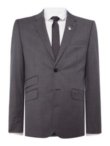Ted Baker Single Breasted Giraffe Tonal Check Suit Jacket