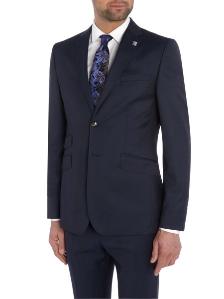 Ted Baker Single Breasted Gazelle Fashion Solid Suit Jacket