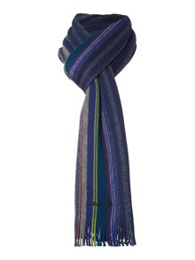 College stripe wool scarf