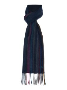 Woven striped wool scarf