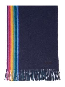 Rainbow reversible wool scarf