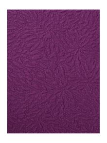 Purple matelasse sham