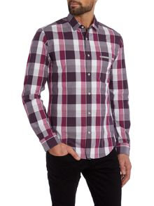 Hugo Boss Baako Slim Fit Poplin Check Shirt