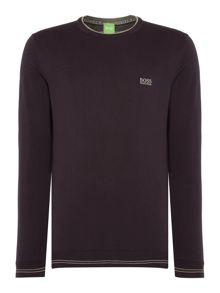 Hugo Boss Rime Regular Fit Logo Knitted Jumper