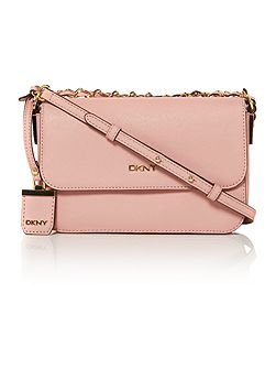DKNY Saffiano light pink small flap over crossbody