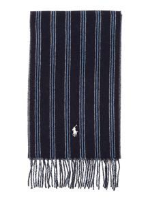 Double face striped scarf