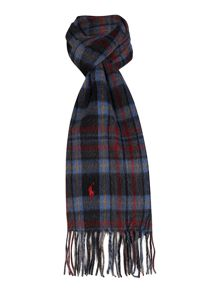 Browstone reversible plaid scarf