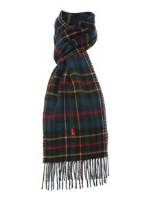 Polo Ralph Lauren Browstone reversible plaid scarf