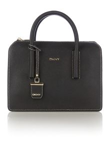 Saffiano black satchel bag