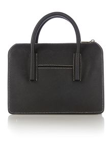 DKNY Saffiano black satchel bag