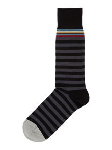 Paul Smith London Multi-coloured top stripe socks
