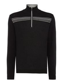 Hugo Boss Zarm Regular Fit 1/2 Zip Knitted Jumper