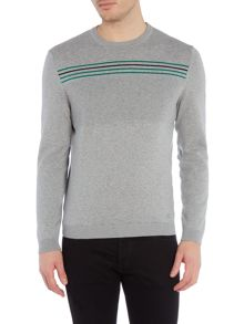 Hugo Boss Rias Regular Fit Striped Knitted Jumper