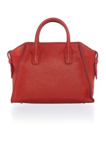 Chelsea red medium satchel
