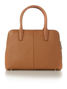 DKNY Tribeca light tan double zip satchel bag