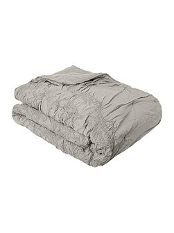 Shabby Chic Soft grey voile bedspread