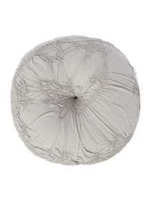 Shabby Chic Soft grey voile cushion