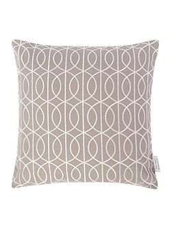 Embroidered gate cushion, grey