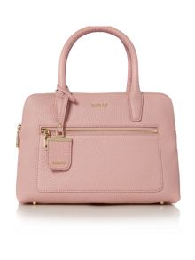 Tribeca light pink double zip satchel bag