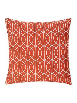 Embroidered gate cushion rust