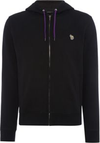 Paul Smith Jeans Full zip zebra logo hoodie