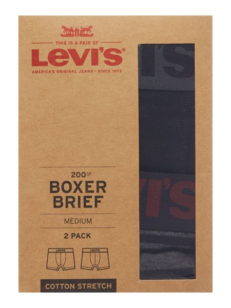 Levi's 2 pack of 2 colour striped trunks