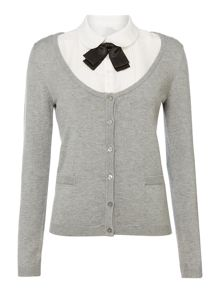 Elfin cardigan with a pleated collar