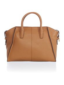 DKNY Chelsea light tan large satchel bag