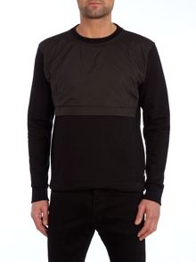 Paul Smith Jeans Crew neck nylon pocket sweatshirt