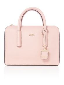 Saffiano light pink satchel bag