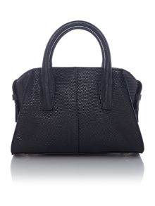 Sutton dark grey mini satchel bag